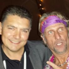 North West Magician Darren Brand and Carl Fogarty.